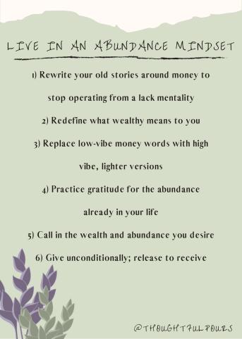 Abundance Mindset Shift